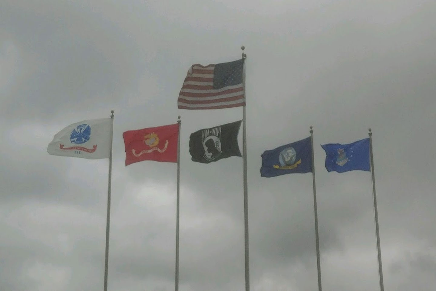 Flags flying at the Post on Memorial Day 05/28/18