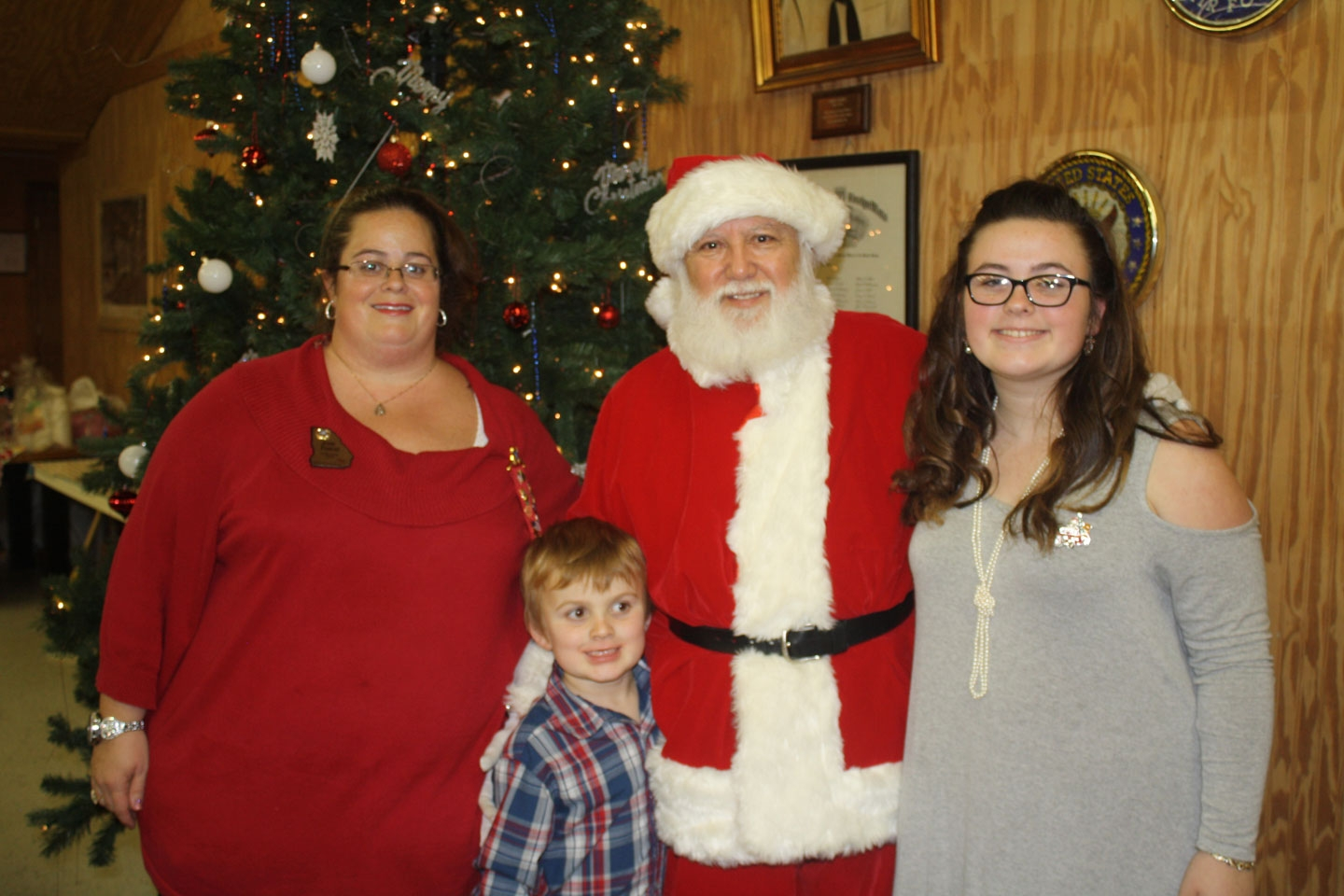 Josie Flower & Family with Santa