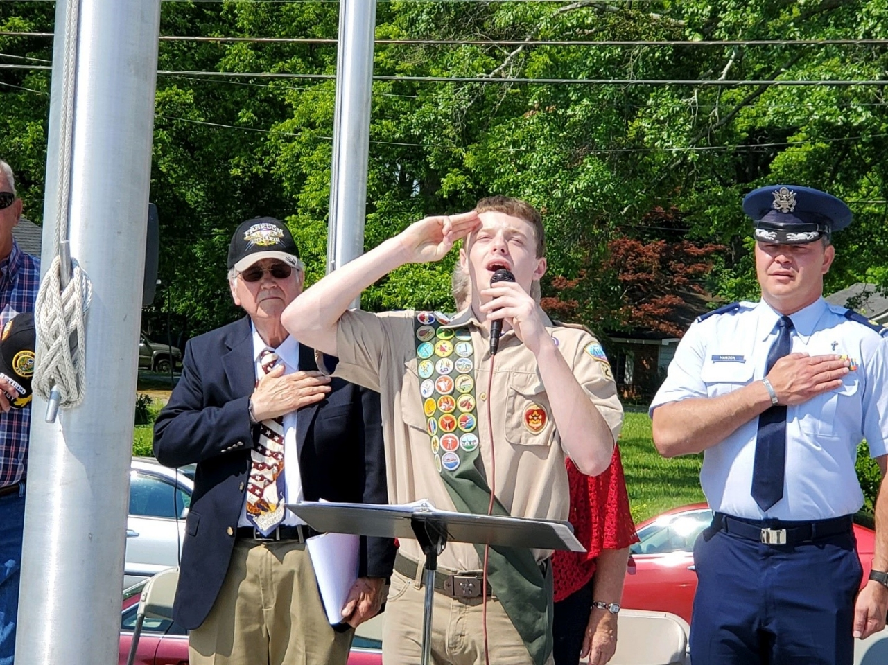 The Pledge of Allegiance led by Eagle Scout Grant Wilson of troop 259 out of Bremen, GA.